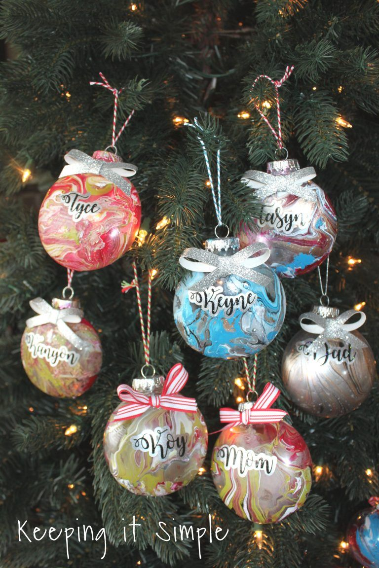 Nail Polish Dipped Christmas Ornaments Christmas Crafts