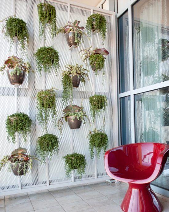 balkon sichtschutz ideen vertikale-gärten   sichtschutz im garten, Gartenarbeit ideen