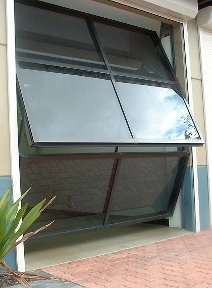 Folded Garagedoor Good For Small Garages And Gives A Marvelous