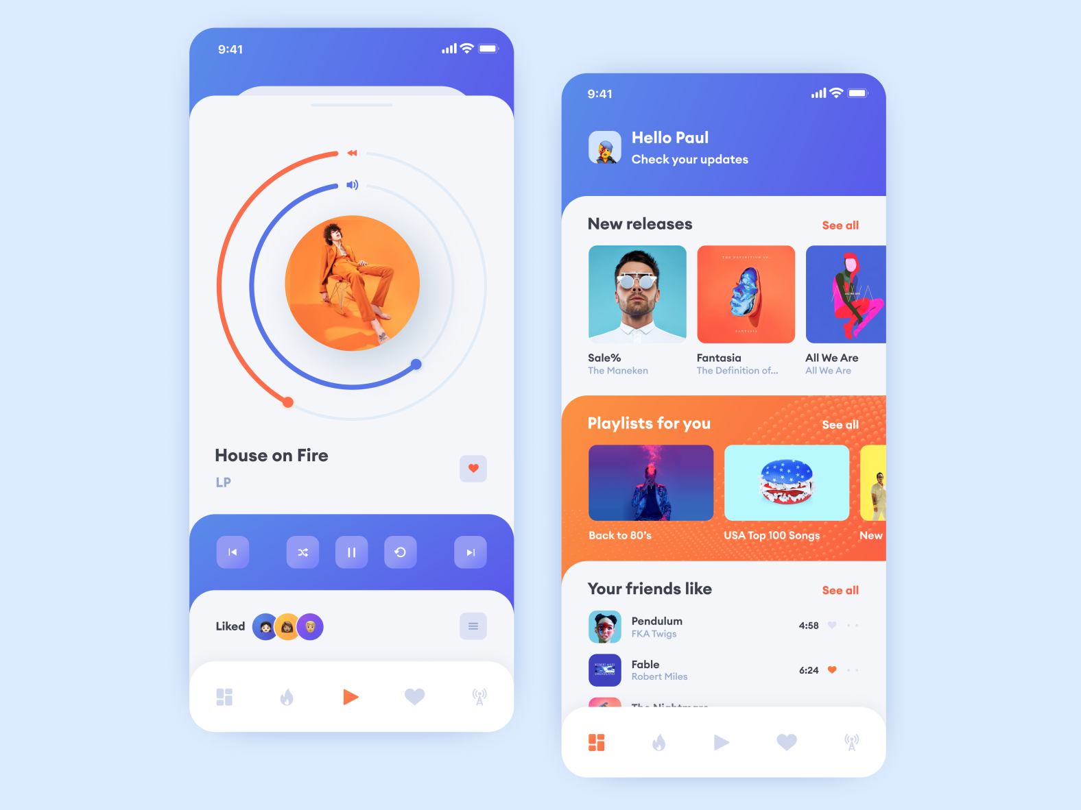 Music Player App by Albert Onishchenko