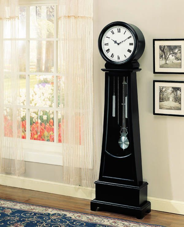 Contemporary Black Grandfather Clock 900726 Cst 900726 Accessorize This House Pinterest