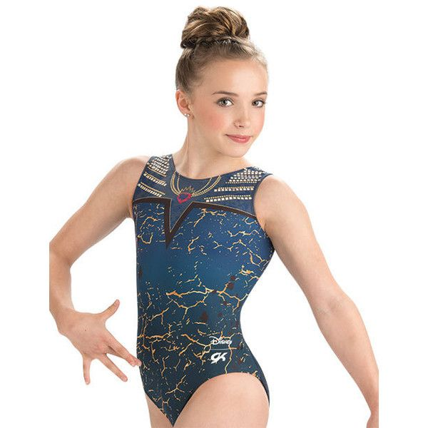 332fbad23103 DSY066 Evie Descendants Disney GK Elite Sportswear gymnastics leotard...  (930 MXN) ❤ liked on Polyvore featuring tops, white top, disney tops and  disney