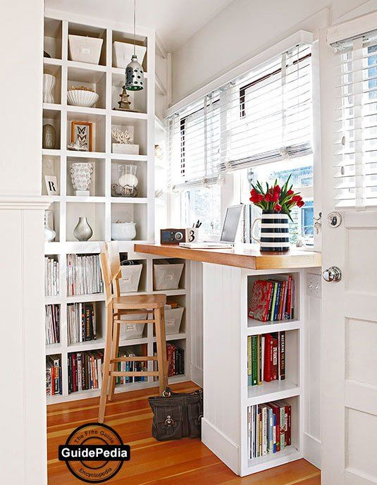 Space With A View Turn Your Window Area Into A Small Office. Install A  Built In Desk And Shelves Under A Large Window For A Work Area With A View.