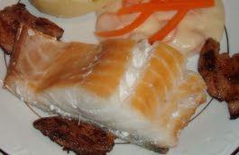 Guttas Kjøkken: Røkt torsk med kokte gulrøtter, melne poteter og f...