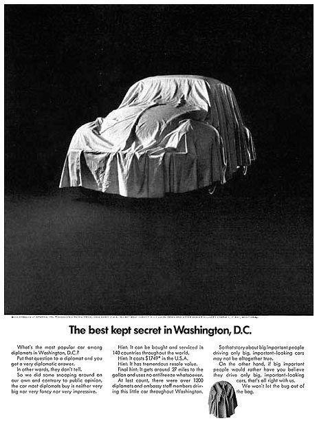 Volkswagen Bill Bernbach Bettle Secret