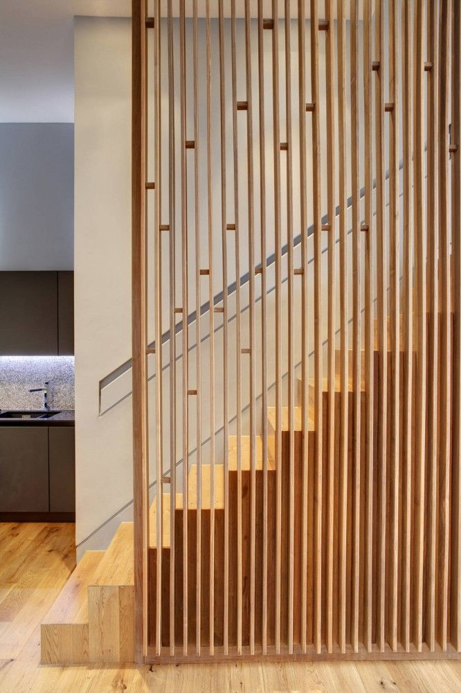 Lighting Basement Washroom Stairs: Apartment At Bow Quarter / Studio Verve Architects