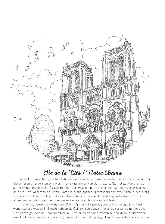 Kleurplaten Voor Volwassenen Parijs.Inkijkexemplaar Kleurboek Voor Volwassenen Parijs Kleurplaten