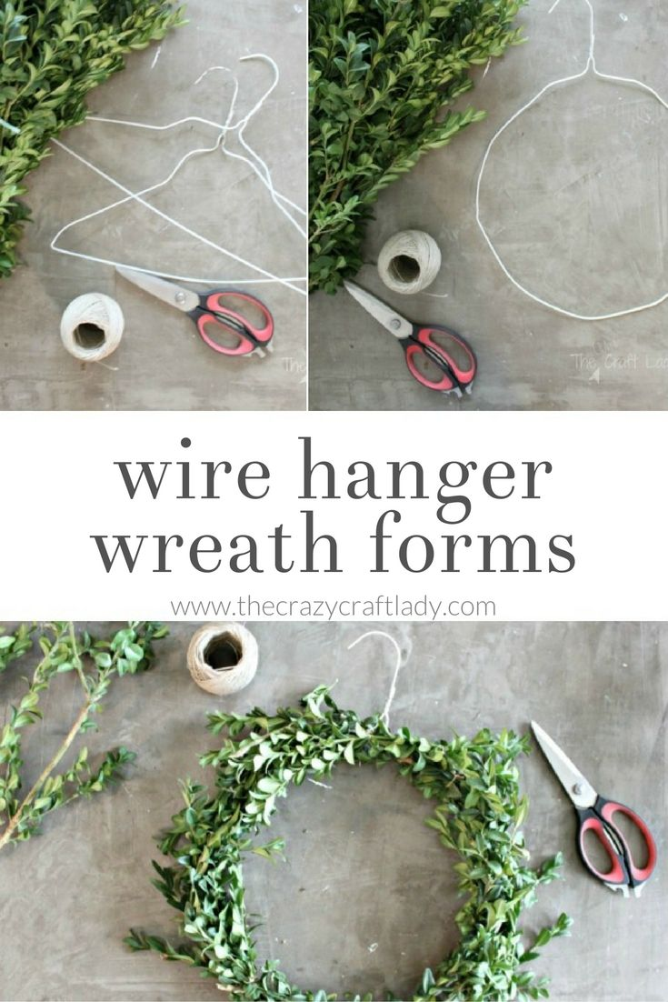 DIY Boxwood Wreaths - 2 Easy Ways   Pinterest   Wreath forms, Wire ...
