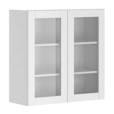 Wall Cabinets Home Depot eurostyle 30x30x12.5 in. amsterdam wall cabinet in white melamine