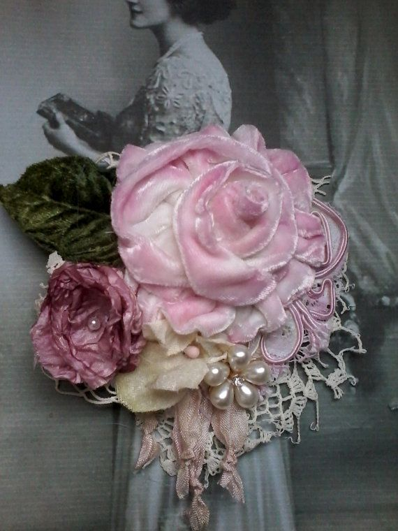 Victorian Shabby Chic Brooch Corsage Hair Accessory