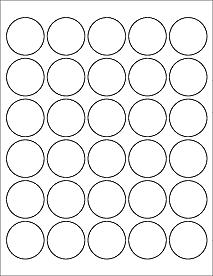 Standard White Matte 1 5 Circle Labels Diy Reward Stickers Circle Labels Inkjet Labels Printing Labels