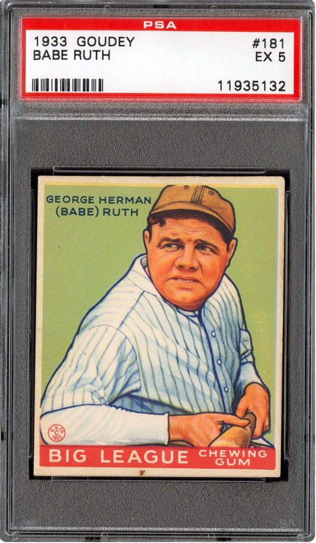 The 20 Most Expensive Sports Cards Of All Time Sports Cards Babe