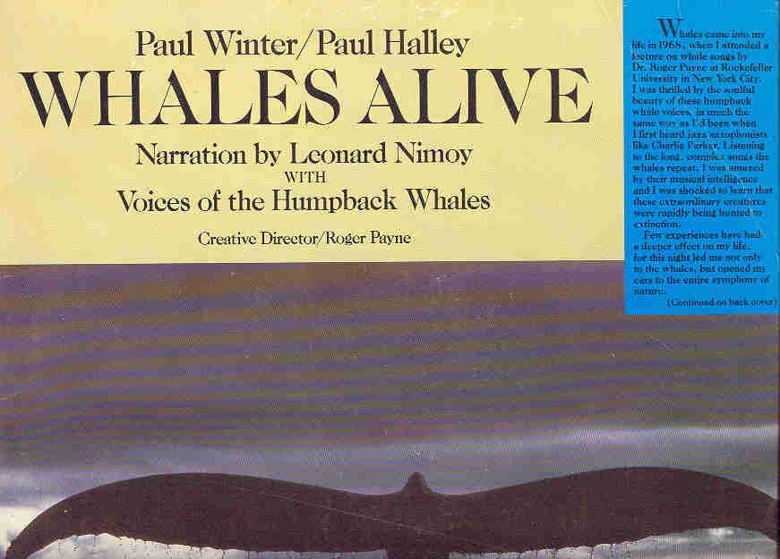 Whales Alive Lp Paul Winter And Paul Halley Leonard Nimoy