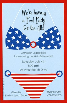 cute idea 4th of july pool party invite cody pools pool builders