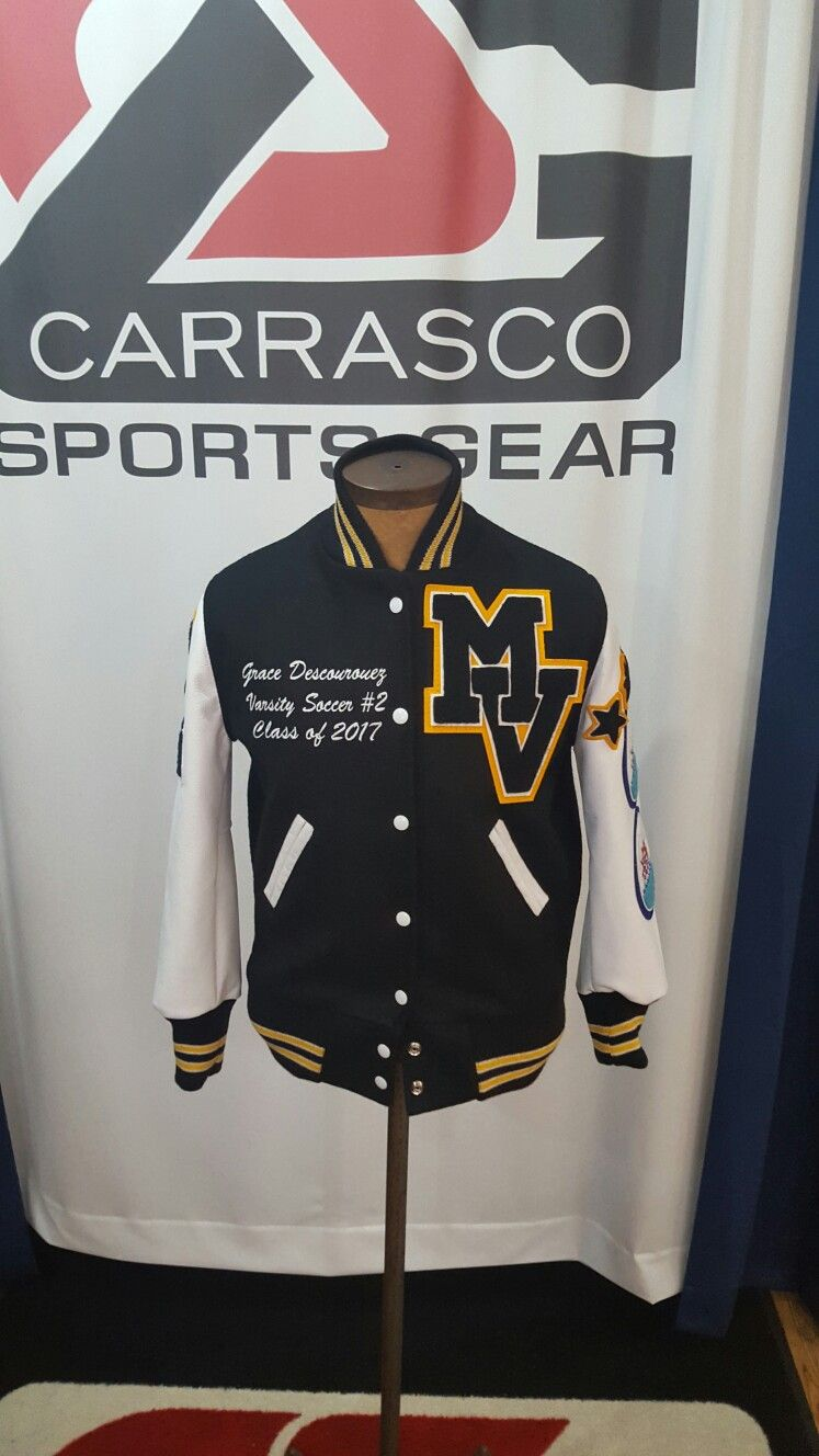 Mountain View High School Varsity Jacket Spartans Carrascosportsgear Chaquetas