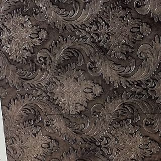 Textured wallpaper painted with Warm Silver metallic paint then glazed.  Faux  Pinterest