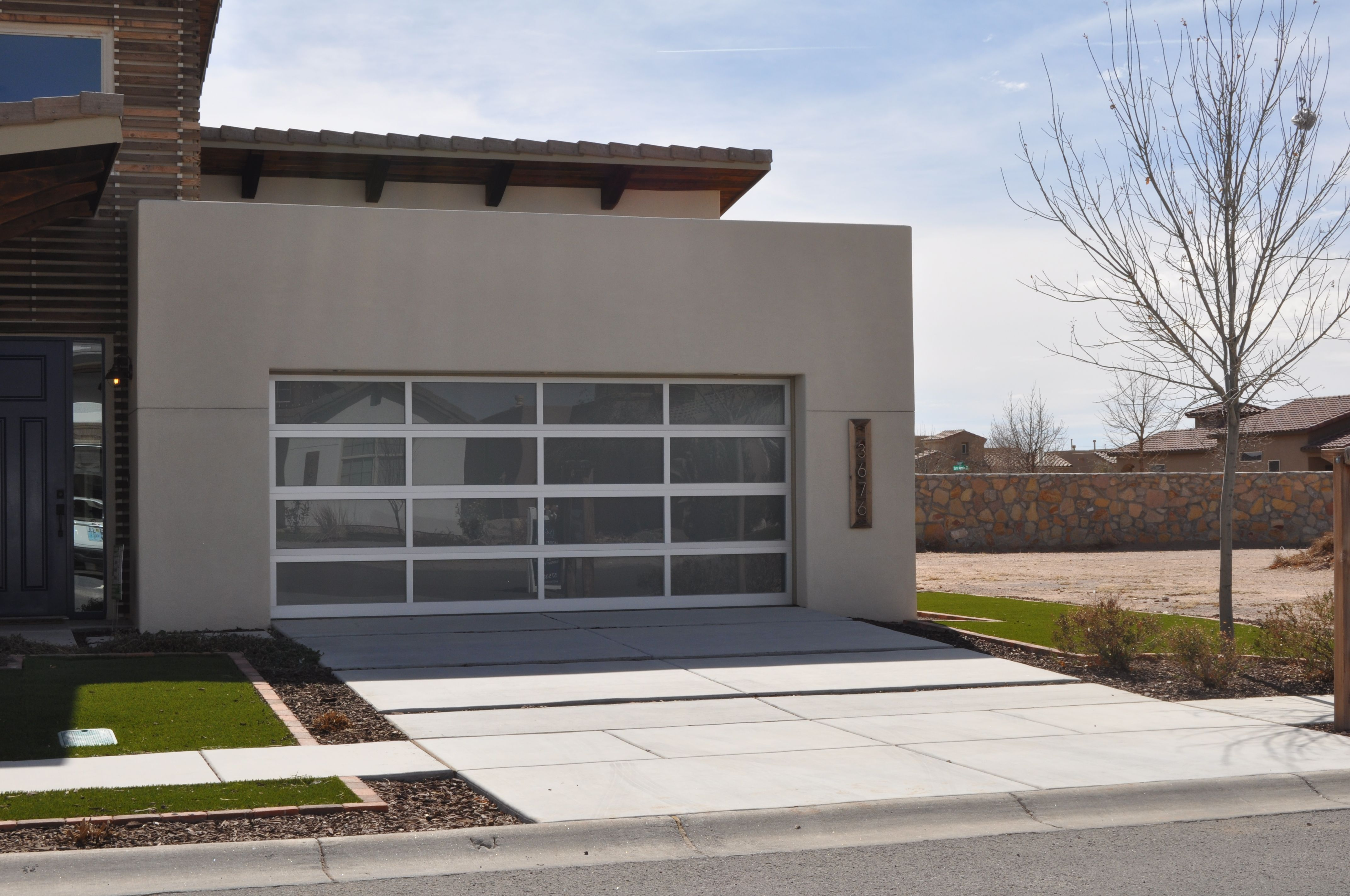 Garage door inspo full view garage doors with frosted glass for privacy without losing the modern home look