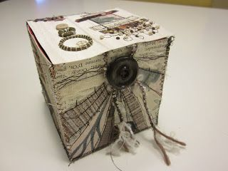 H-anne-Made: Stitched Collage Box