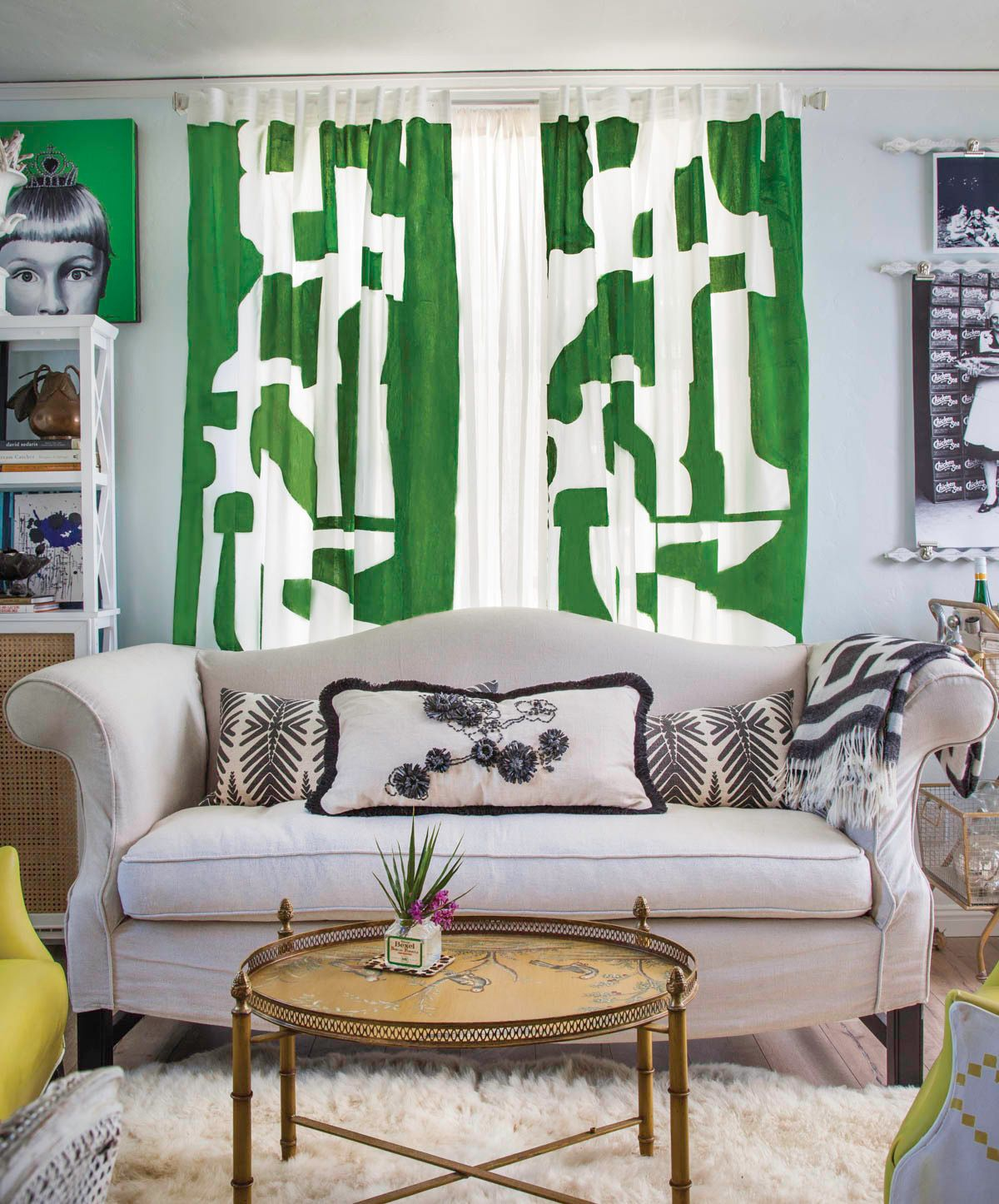decorate this not that diy green painted curtains for