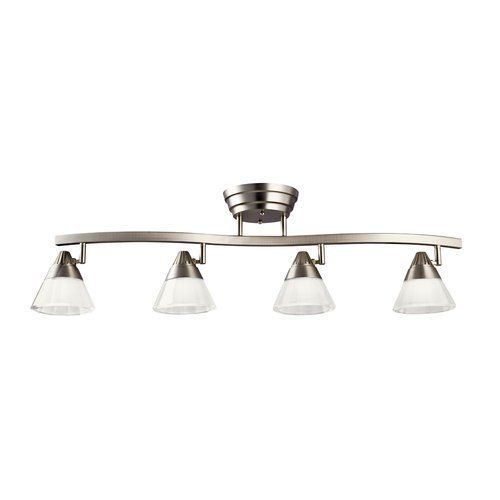 Kichler Modern Four Light Down Lighting Led Track Kit Brushed Nickel