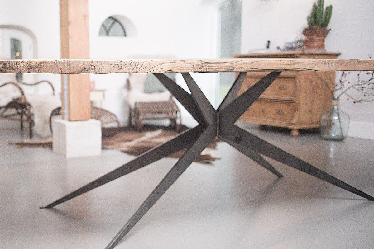 Ovale eettafel hout uitschuifbaar design tafels