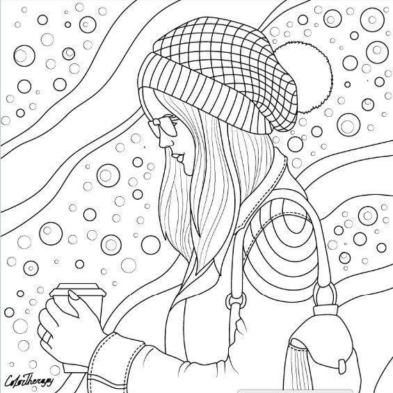 Sketch, Gift, Knitted Hat, Knit Hats, Fairy Coloring, Sandbox, Coloring  Sheets, Peles, Cocoa
