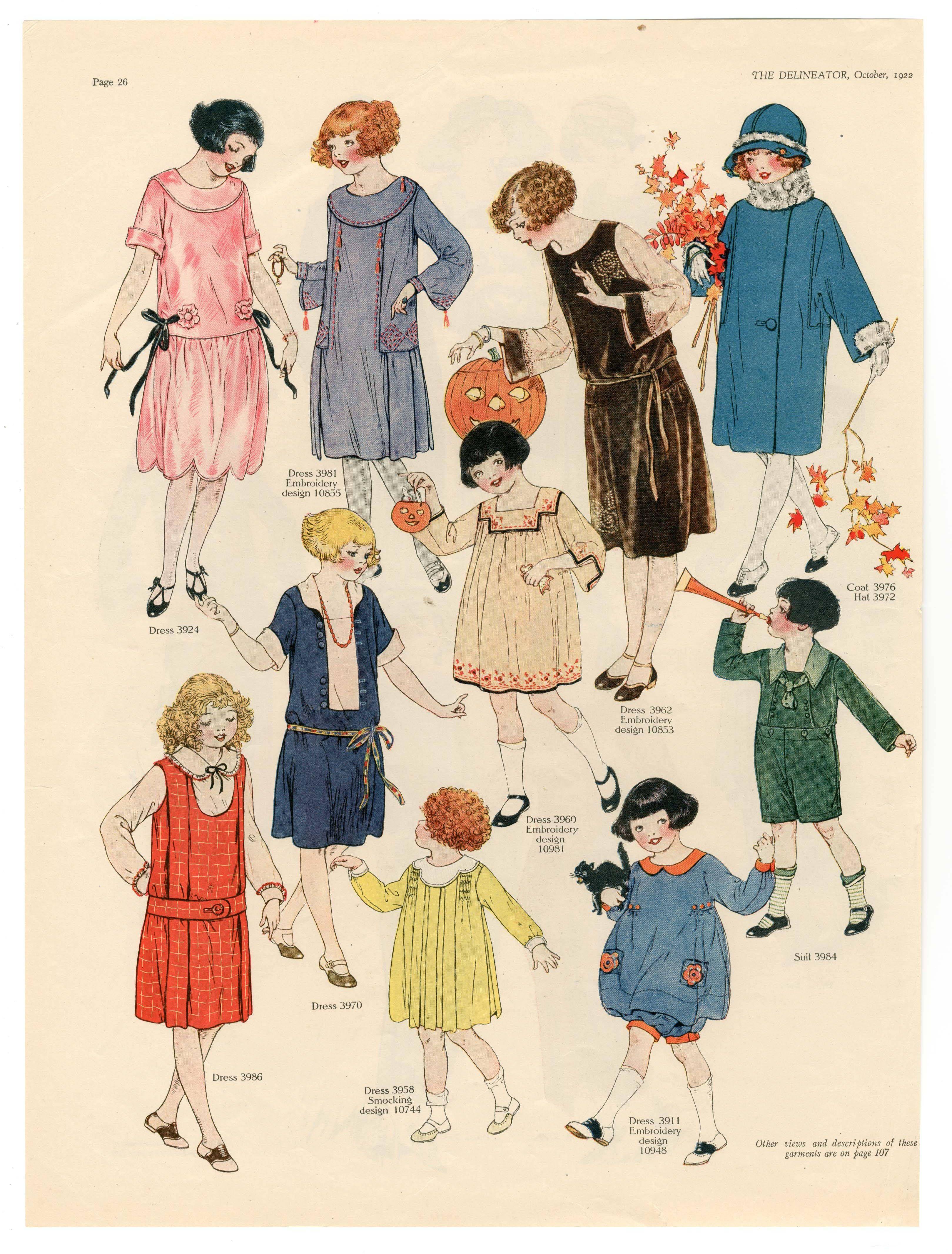 Us childrenus clothing fashion plate vintage girlus fashion in