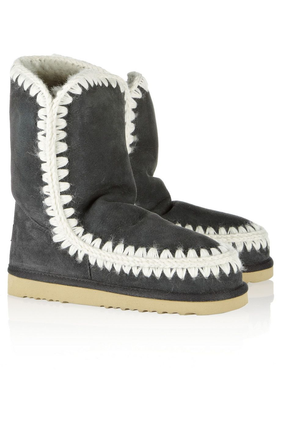 Shearling boots  by Mou  $280
