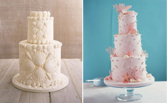 12 ideas para pastel de bodas en verano: ¿Qué tal una temática marina?