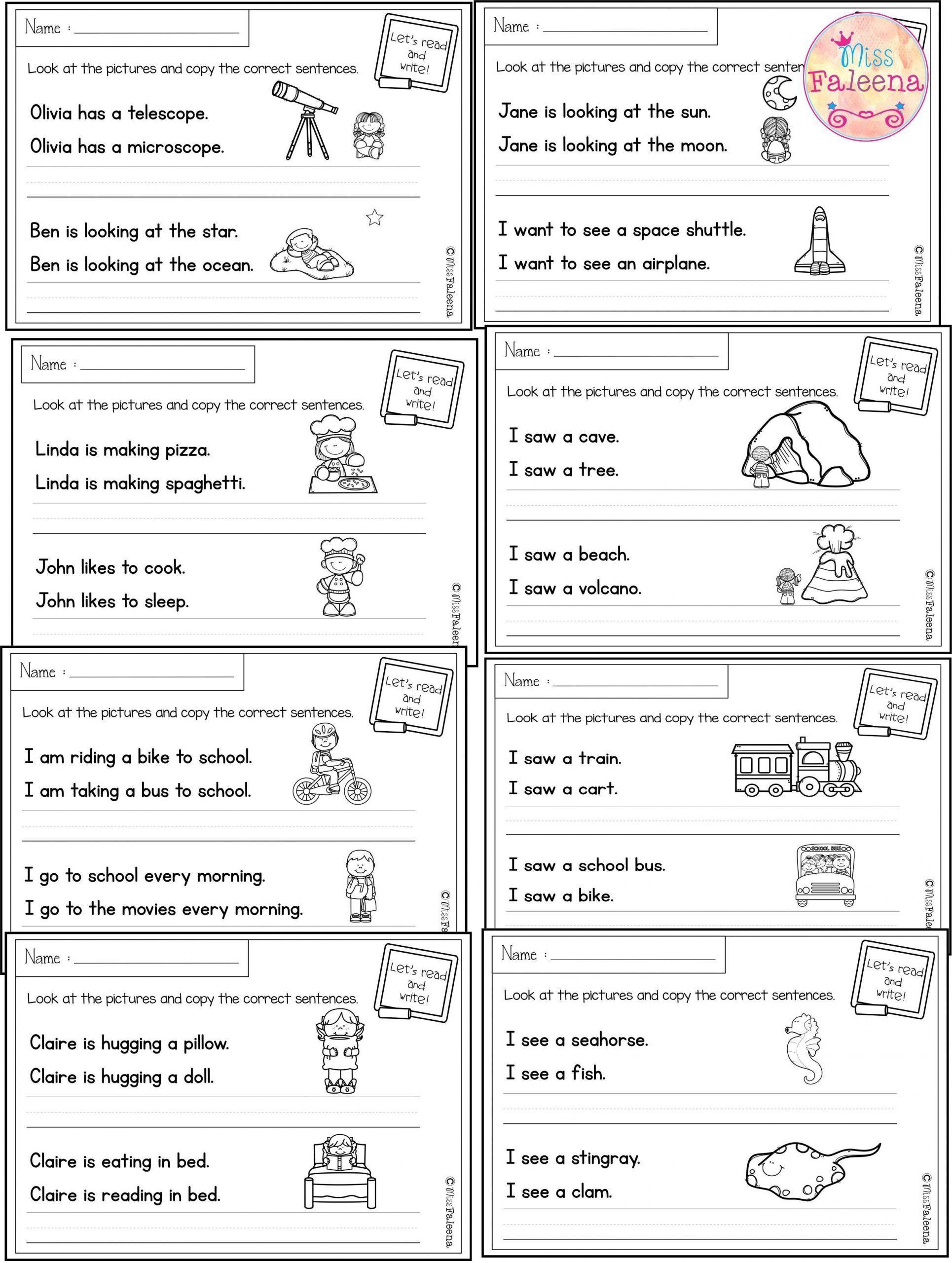 Free Printable Sentence Writing Worksheets August Sentence Writing With Images In 2020 Sentence Writing Writing Worksheets Sentence Correction