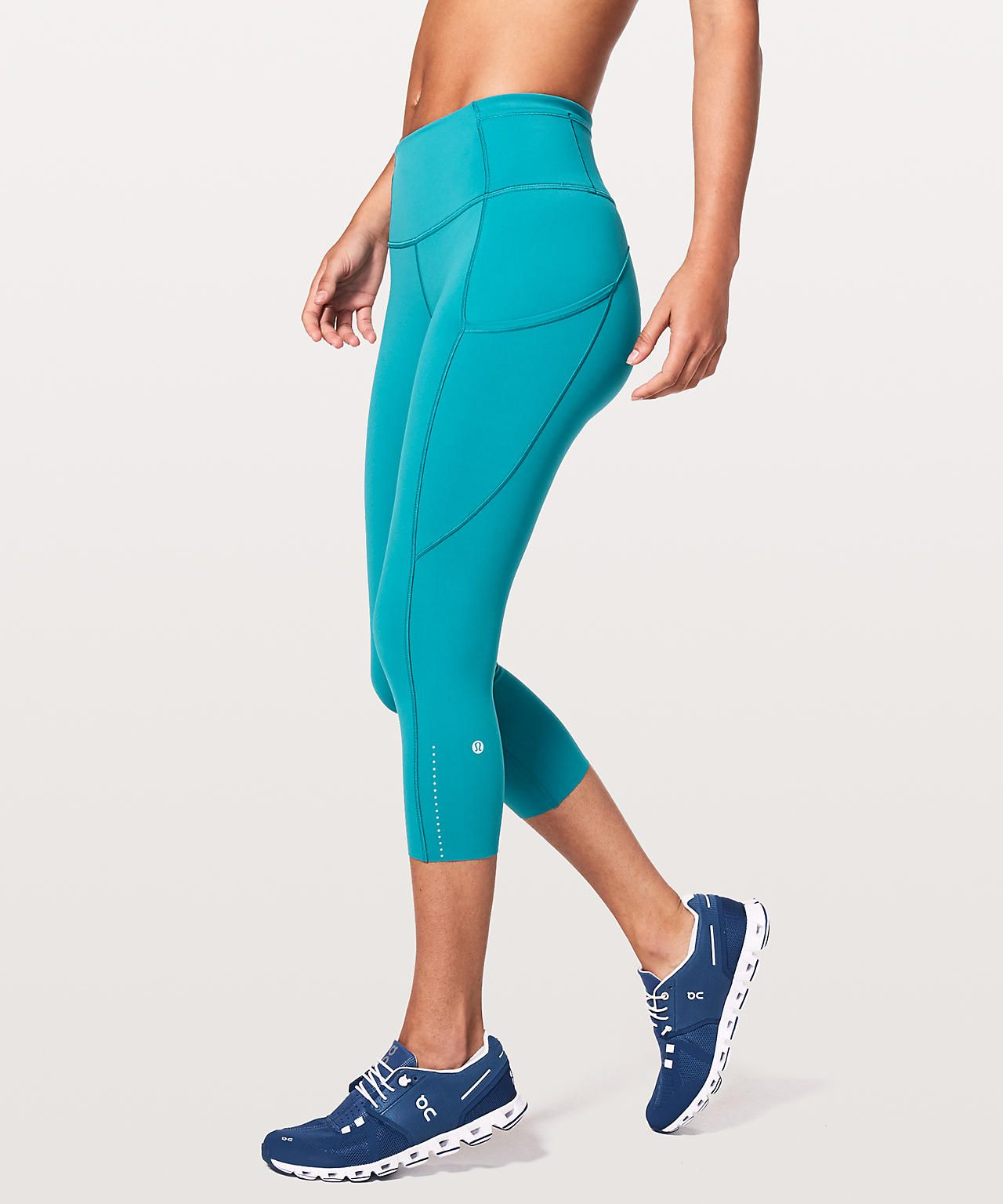 73e4ac09c5 Fast and Free crop II *Nulux Teal blue | Lululemon ❤ | Free crop ...