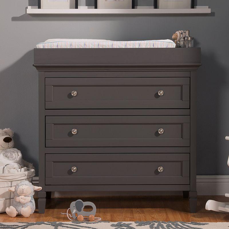 DaVinci Perse 3-Drawer Changer Dresser, Grey