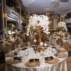 Gold Silver And White Reception Decor