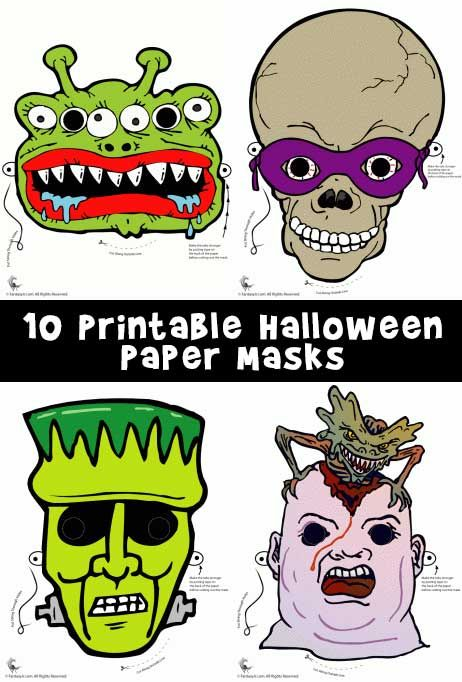 Printable Halloween Masks 手工打印图片 Halloween Masks