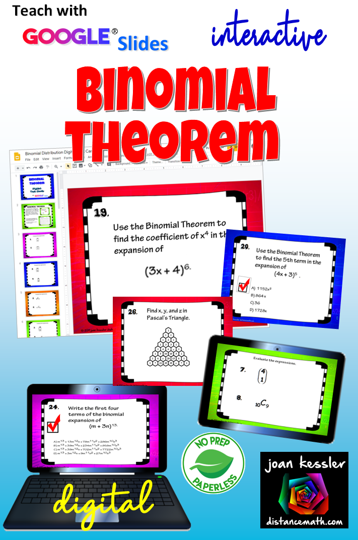 Binomial Theorem with Google™ Slides   Hot off the Press   Binomial