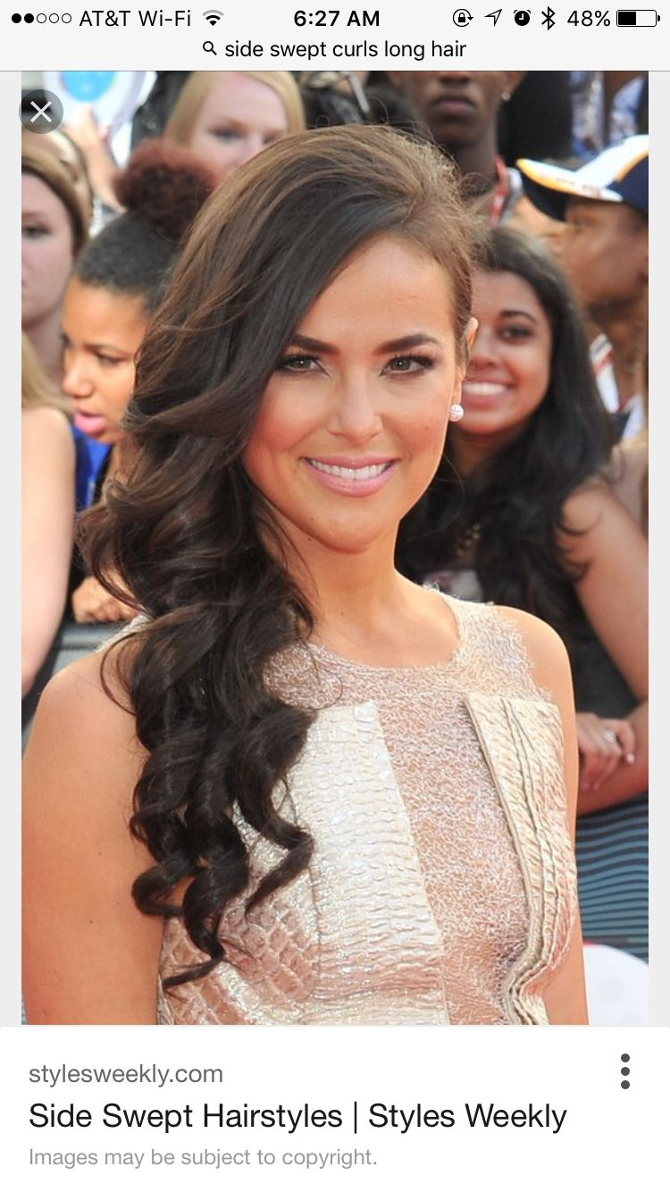 More side swept hairstyles for prom side swept wedding hair medium - Side Curls More Wedding Hair