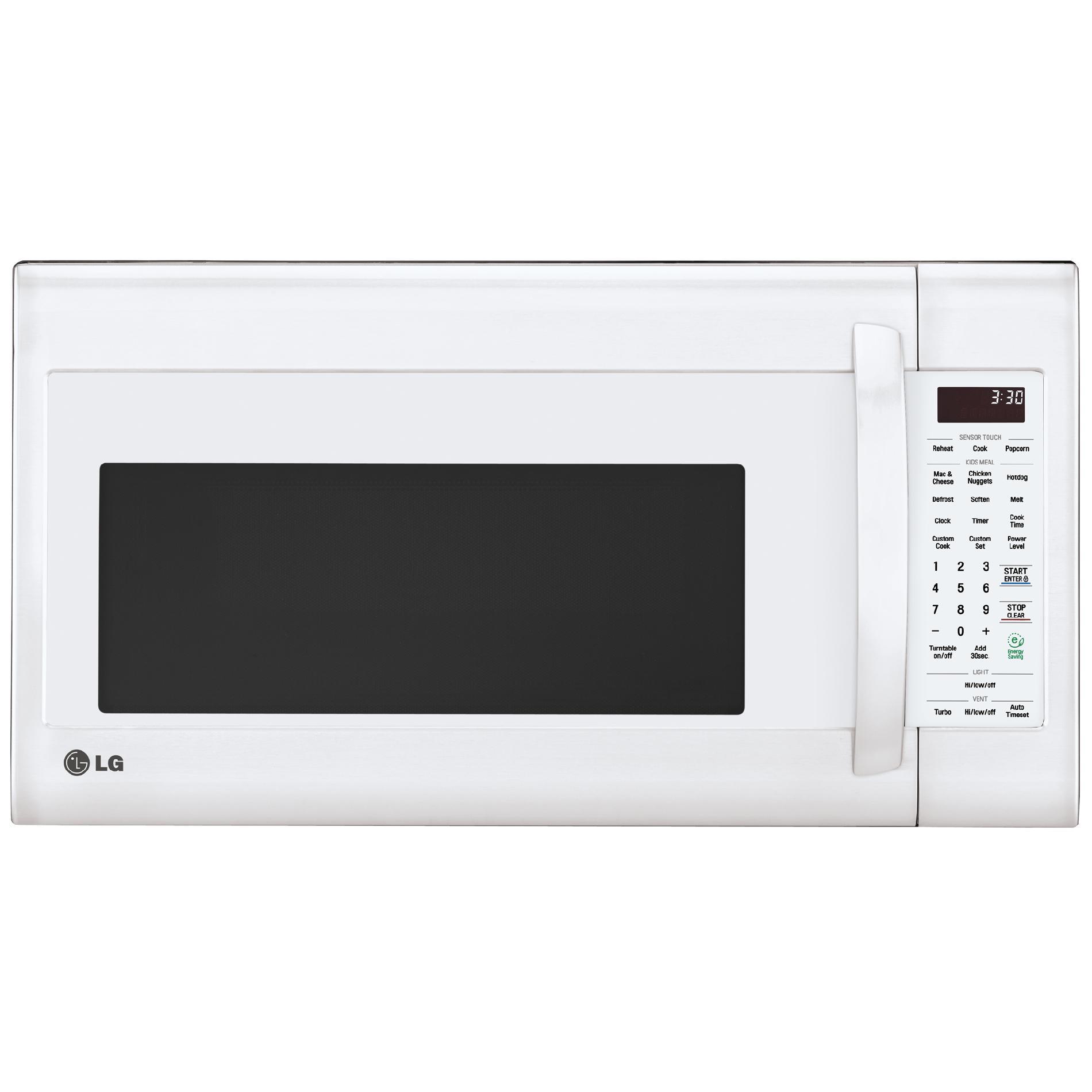 Lg Lmv2031sw 2 0 Cu Ft Over The Range Microwave White Over The Range Microwaves Microwave White Microwave