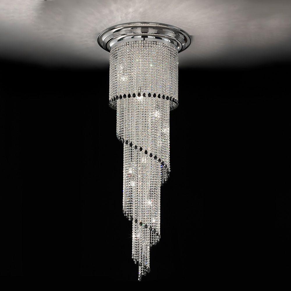bf3dd38b504 Art Deco Style Vertical Swarovski Crystal Chandelier in 2019 | Art ...
