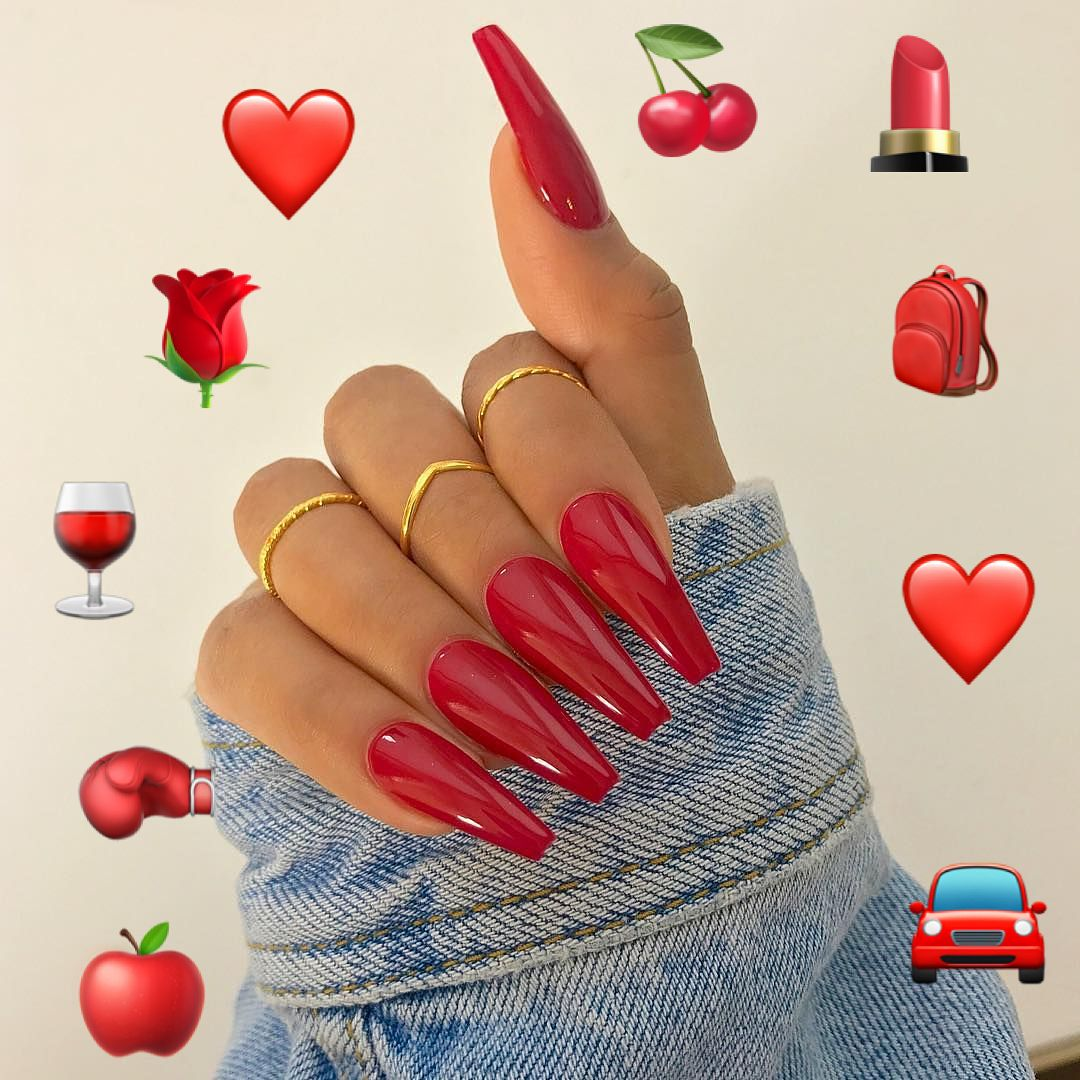 Dark Red Coffin Nails Maroon Nails Best Acrylic Nails Nails
