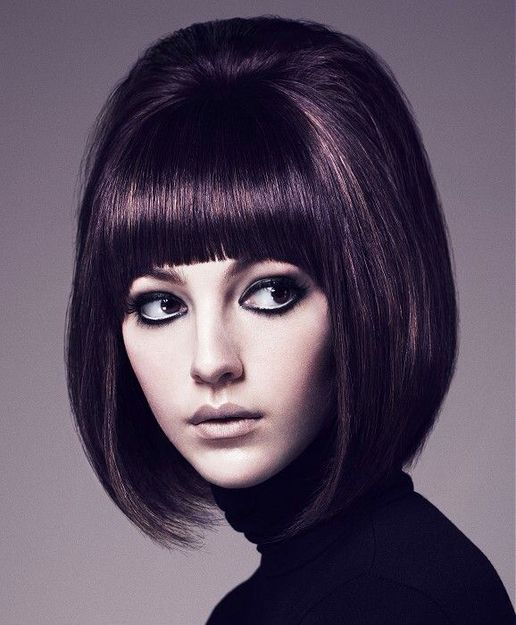 mod hair and bold bangs paint