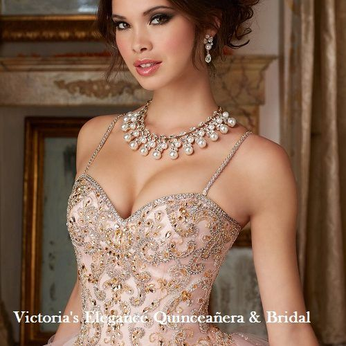 Ball Gown Long Sleeve Beaded Crystal Applique Watteau: Morilee Charro Crystal Beaded Lace On A Tulle Ballgown