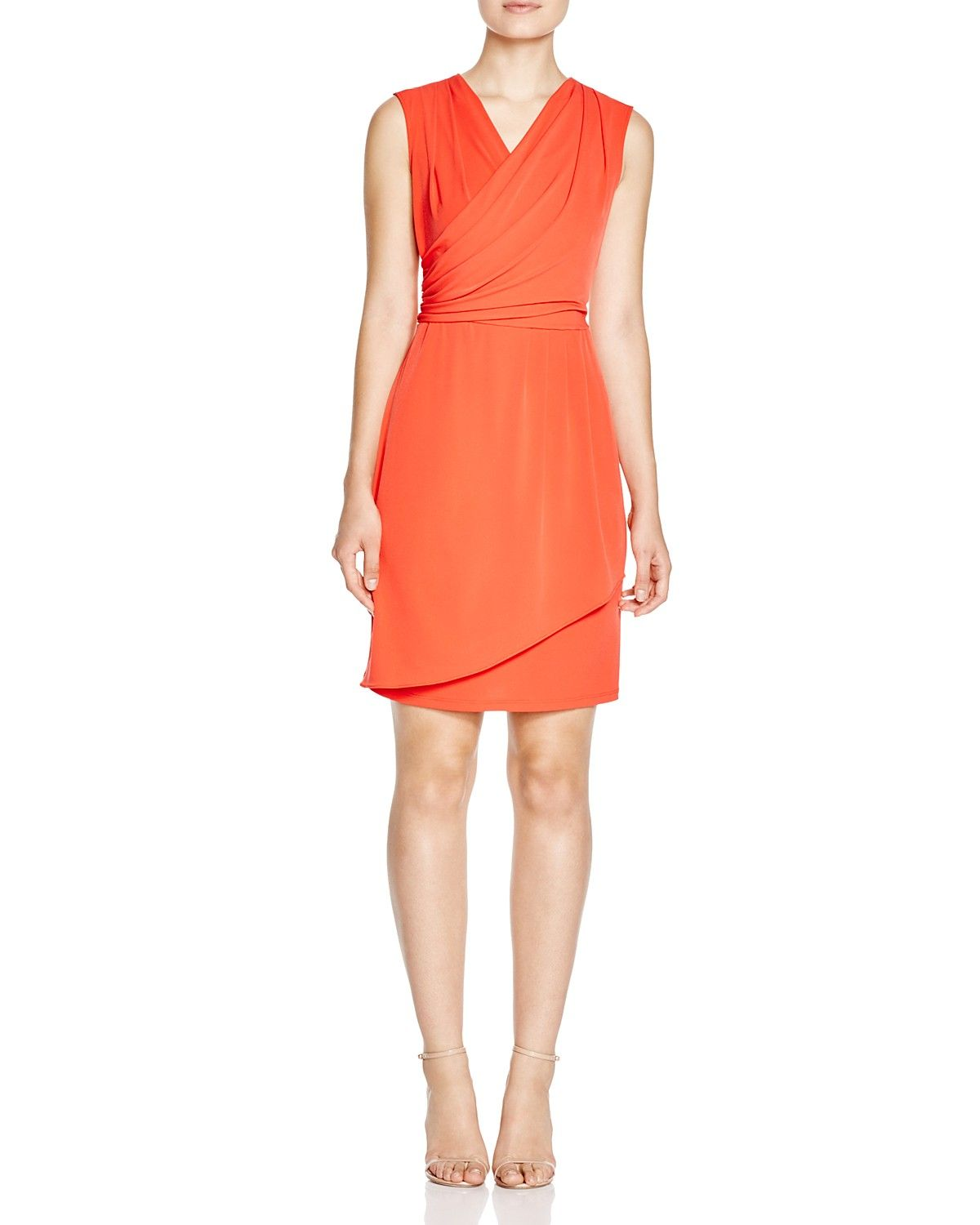 7c6f1285f1e Calvin Klein Faux-Wrap Dress
