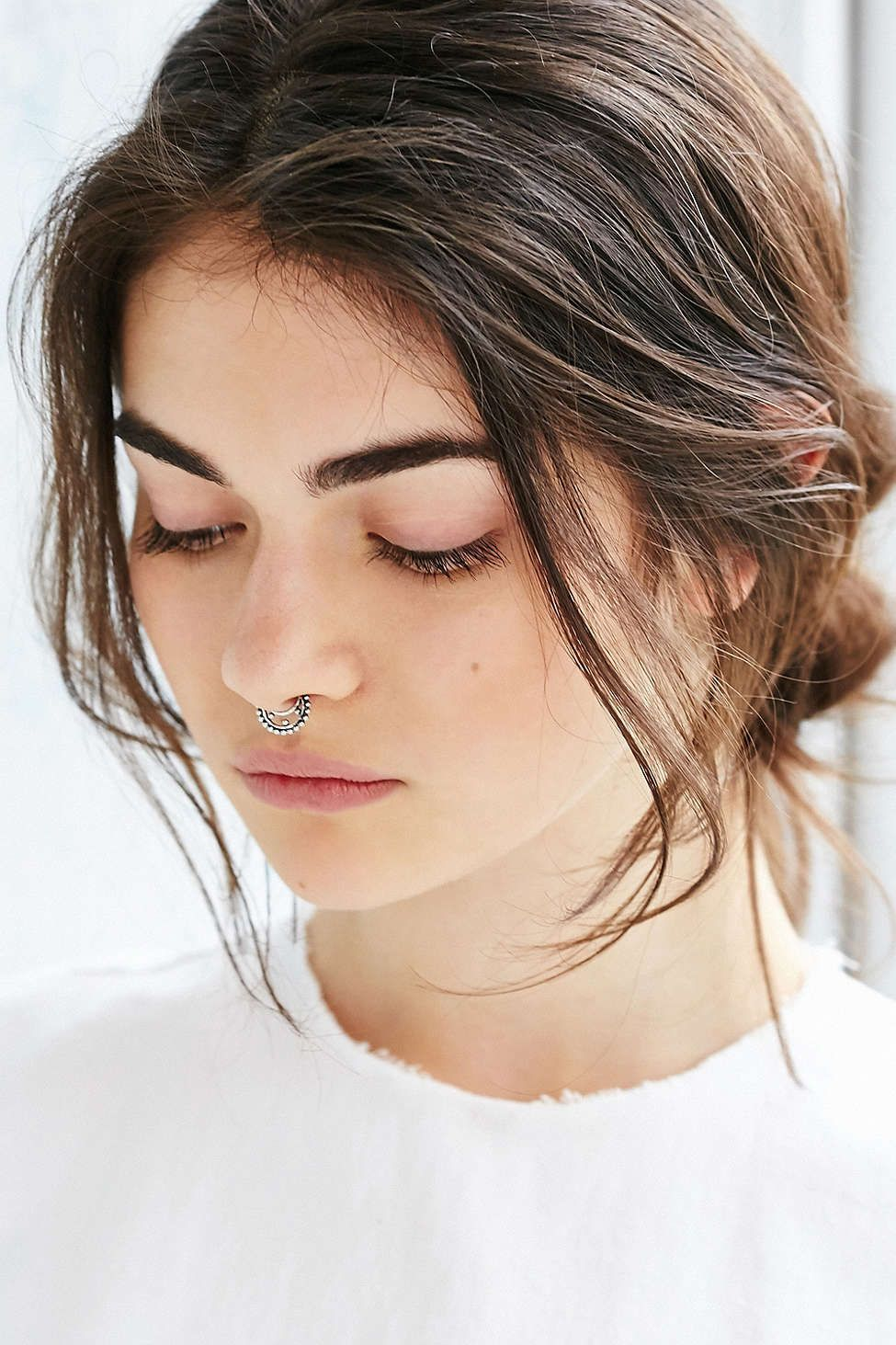 Piercing on nose  Zelma Faux Nose Ring  Urban Outfitters  Hair Beauty  Pinterest