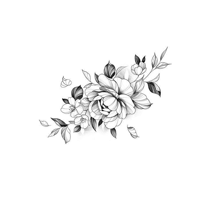 Studiobysol Zee En Instagram Available Flower Flowertattoo Rosetattoo Peonytattoo Koreatattooshop Tattoode Flower Tattoo Flower Drawing Flower Tattoos