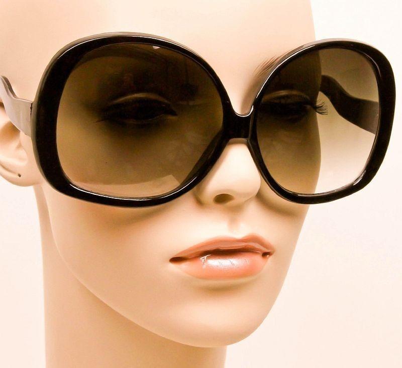 aeb8f6882c685 Oversized Round Black Grey Gradient Lens Huge Sunglasses Frames Glasses 1033  BLK  Fashion  Oval