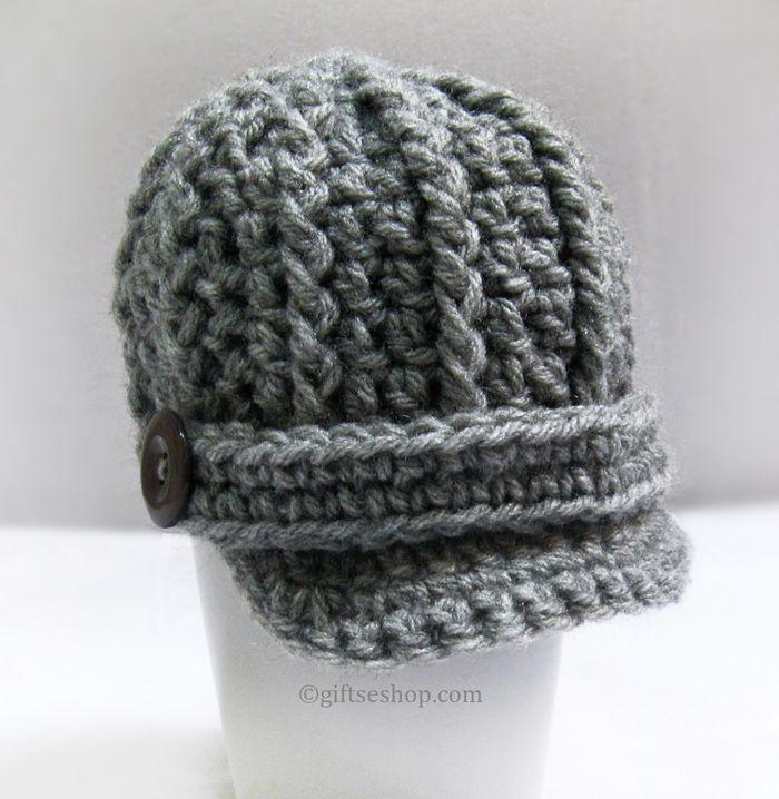 Crochet pattern Baby Boy Hat- Newsboy Hat Crochet pattern Baby Boy ...