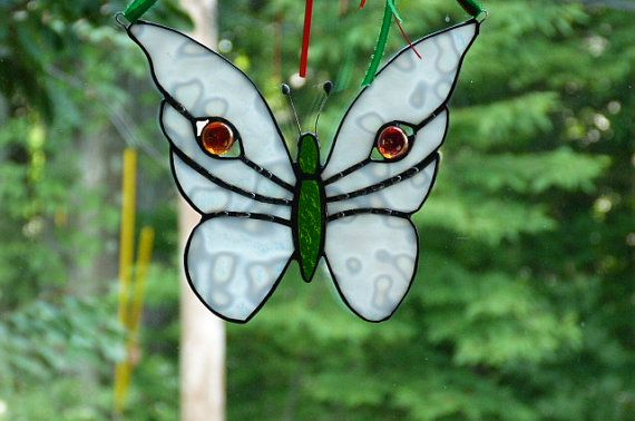 Beautiful Stained Glass Christmas Buttefly Angel by miloglass, $20.00