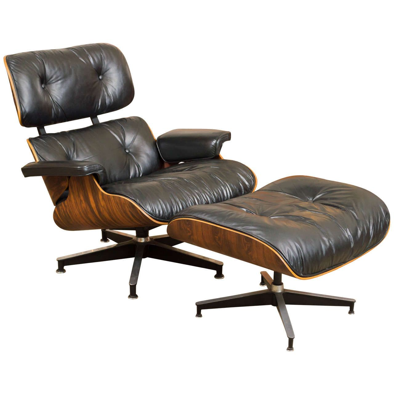 Eames Rosewood Lounge Chair 670 And Ottoman 671 For Herman Miller |  1stdibs.com
