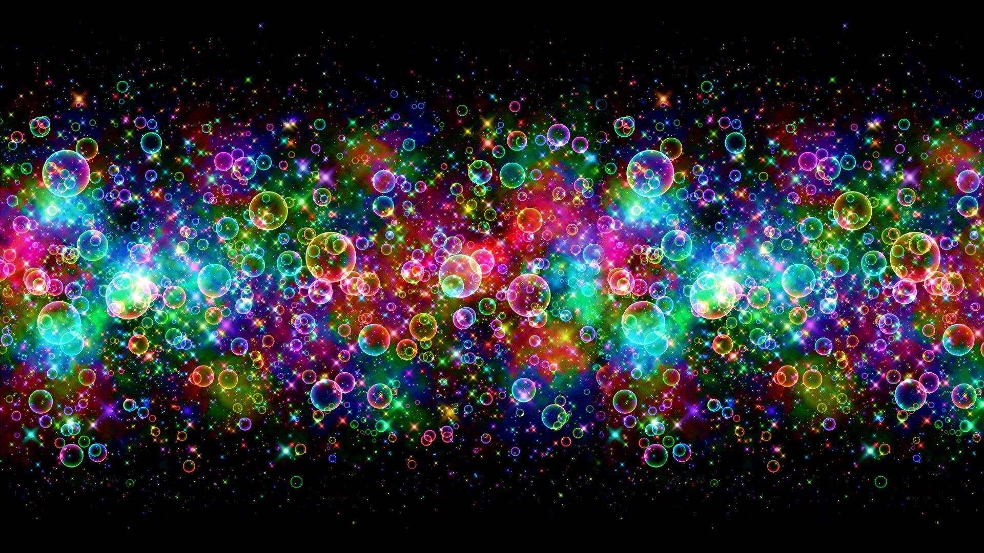 Обои неоновый, Abstract, rainbow, lights, colors, background. Абстракции foto 13