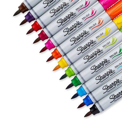 A colorful pack of timeless Sharpie brush pens that you can use in your journal, agenda or for art projects. | 24 Ridiculously Cool Pens That Will Inspire You To Write More